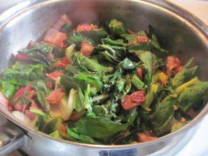 bacon jalepeno and greens