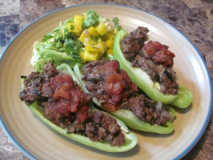 Keirstens Kitchen Stuffed Peppers with Mango Salsa and Avocado